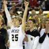 Latta\'s Trent Storts celebrates during the 2A boys state high school basketball championship game between Latta and Haworth at the State Fair Arena in Oklahoma City, Saturday, March 9, 2013. Photo by Sarah Phipps, The Oklahoman