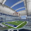 Photo - NFL FOOTBALL: This artist's rendering, provided by the Dallas Cowboys, shows an interior view of the bowl with an open roof of their new $ 1 billion football stadium being built in Arlington, Texas. The new stadium will have a seating capacity of 80,000. (AP Photo/Dallas Cowboys) ** NO SALES ** ORG XMIT: TXDM103