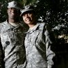 Kenric and Kim Brooks pose at Ft. Sill, Okla., on Monday, Oct. 6, 2008, after returning from deployment to Iraq last week. By John Clanton