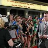 Texas A&M quarterback Johnny Manziel arrives at the Home Depot College Football Awards in Lake Buena Vista, Fla., Thursday, Dec. 6, 2012. (AP Photo/John Raoux)