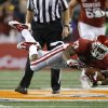 Oklahoma\'s Durron Neal (13) leaps during the Cotton Bowl college football game between the University of Oklahoma (OU)and Texas A&M University at Cowboys Stadium in Arlington, Texas, Friday, Jan. 4, 2013. Oklahoma lost 41-13. Photo by Bryan Terry, The Oklahoman