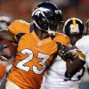 FILE - In this Sept. 9, 2012, Denver Broncos running back Willis McGahee runs against the Pittsburgh Steelers during the fourth quarter of an NFL football game in Denver. McGahee\'s 32 career 100-yard rushing games are more than any active running back in the NFL. Not bad for a guy that many doubted would even make it to the NFL after he tore three ligaments in his left knee in his final college game at Miami a decade ago. (AP Photo/Joe Mahoney, File)