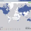 """Photo - This undated image provided by Facebook shows the social network's interactive map for the World Cup. Facebook users will be able to keep track of their favorite teams and players throughout the tournament in a special World Cup section on the site called """"Trending World Cup."""" Available on the Web as well as mobile devices, the hub will include the latest scores, game highlights as well as a feed with tournament-related posts from friends, players and teams.  (AP Photo/Facebook)"""