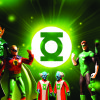 Green Lantern toys are on display at the Toy & Action Figure Museum in Pauls Valley.