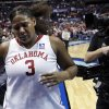 Sooner Courtney Paris leaves the floor as University of Oklahoma is defeated by Louisville 61-59 at the 2009 NCAA women\'s basketball tournament Final Four in the Scottrade Center in Saint Louis, Missouri on Sunday, April 5, 2009. Photo by Steve Sisney, The Oklahoman