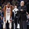 Oklahoma City\'s Kevin Durant (35) talks with Minnesota coach Rick Adelman during an NBA basketball game between the Oklahoma City Thunder and Minnesota Timberwolves at Chesapeake Energy Arena in Oklahoma City, Friday, Feb. 22, 2013. Photo by Nate Billings, The Oklahoman