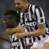 Photo - Juventus' Paul Pogba, of France, left, celebrates with teammates after scoring during the Italian Supercup soccer match against Lazio at the Rome Olympic stadium Sunday, Aug. 18, 2013. (AP Photo/Gregorio Borgia)