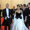 """Andy Cohen, left, and Sarah Jessica Parker arrive at The Metropolitan Museum of Art\'s Costume Institute benefit gala celebrating """"Charles James: Beyond Fashion"""" on Monday, May 5, 2014, in New York. (Photo by Evan Agostini/Invision/AP)"""