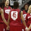 WOMEN\'S COLLEGE BASKETBALL / WOMEN\'S NCAA TOURNAMENT: OU head coach Sherri Coale talks to her team during practice in Kansas City, Mo., on Saturday, March 27, 2010. The University of Oklahoma will play Notre Dame in the Sweet 16 round of the NCAA women\'s basketball tournament on Sunday. Photo by Bryan Terry, The Oklahoman ORG XMIT: KOD