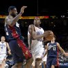 Oklahoma City\'s Kevin Durant (35) drives to the basket as Cleveland\'s LeBron James defends during the NBA game between the Oklahoma City Thunder and Cleveland Cavaliers, Sunday, Dec. 21, 2008, at the Ford Center in Oklahoma City. PHOTO BY SARAH PHIPPS, THE OKLAHOMAN