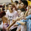 Byng fans cheer as their team plays Mount St. Mary during a Class 4A girls high school basketball game in the first round of the state tournament at the Sawyer Center on the campus of Southern Nazarene University in Bethany, Okla., Thursday, March 7, 2013. Photo by Nate Billings, The Oklahoman