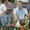 Scott Verplank sits on his bag and waits on the seventh tee for Ben Crane to hit at Brown Deer Park during the third round of the U.S. Bank Championship Saturday, July 23, 2005, in Milwaukee. (AP Photo/Morry Gash)