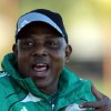 Photo - Nigeria's head coach Stephen Keshi reacts during their training session in Nelspruit, South Africa, Thursday Jan. 24, 2013, ahead of their African Cup of Nations Group C soccer match against Zambia on Friday. (AP Photo/Themba Hadebe)