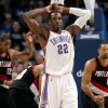 Oklahoma City\'s Jeff Green reacts to a foul called on him in the final minutes of the Thunder\'s loss to Portland during the second half of their NBA basketball game at the Ford Center in Oklahoma City, Okla., on Sunday, March 28, 2010. The Thunder lost to the Trail Blazers. Photo by John Clanton, The Oklahoman