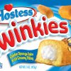 This undated photo provided by Interstate Bakeries Corp. on Thursday, July 28, 2005, shows the new packaging of Hostess\' Twinkies. For the first time in 25 years, the Hostess brand of snack cakes, including such favorites as Twinkies, Ho Hos and Ding Dongs, are getting brand new packaging designed to both update the product line\'s look and improve its visibility on store shelves. The new design keeps the same red, white and blue coloring, but features more vibrant graphics and, in the case of the Twinkies box, doubles the size of Hostess mascot Twinkie the Kid. Interstate Bakeries, based in Kansas City, began rolling out the new packaging in California, Nevada and Arizona earlier this month and the new boxes should be in stores nationwide by the end of the year. (AP Photo/Interstate Bakeries Corp.)