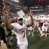 OU\'s DeMarco Murray celebrates after winning the Big 12 football championship game between the University of Oklahoma Sooners (OU) and the University of Nebraska Cornhuskers (NU) at Cowboys Stadium on Saturday, Dec. 4, 2010, in Arlington, Texas. Photo by Bryan Terry, The Oklahoman