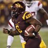 Photo - Arizona State running back Cameron Marshall (6) runs for a touchdown against USC during the first half of an NCAA football game on Saturday, Sept. 24, 2011, in Tempe, Ariz. (AP Photo/Matt York)  ORG XMIT: PNS103
