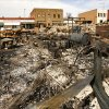 Rubble is all that remains of four downtown Weleetka businesses destroyed in a fire Friday afternnoon. What remained standing after the fire were bulldozed to keep the unsteady structures from falling. This photo was taken Wednesday, March 11, 2009. BY JIM BECKEL, THE OKLAHOMAN