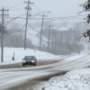A lone car travels on SE 15 near Douglas Blvd. in Midwest City. Friday, Jan. 29 , 2010. Photo by Jim Beckel, The Oklahoman