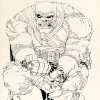 Photo - This image provided by Heritage Auctions on July 2, 2013 shows the original art drawn by writer/artist Frank Miller for the cover to