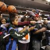Fans line up to get an autograph from James Harden before the pre season NBA game between the Dallas Mavericks and the Oklahoma City Thunder at the American Airlines Center in Dallas, Sunday, Dec. 18, 2011. Photo by Sarah Phipps, The Oklahoman