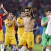 Australia\'s Tim Cahill (4) salutes spectators following their 3-1 loss to Chile during the group B World Cup soccer match between Chile and Australia in the Arena Pantanal in Cuiaba, Brazil, Friday, June 13, 2014. (AP Photo/Thanassis Stavrakis)