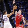 Houston\'s Omer Asik (3) defends on Oklahoma City\'s Kevin Martin (23) during Game 2 in the first round of the NBA playoffs between the Oklahoma City Thunder and the Houston Rockets at Chesapeake Energy Arena in Oklahoma City, Wednesday, April 24, 2013. Photo by Chris Landsberger, The Oklahoman