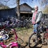 John Ballard repairs bikes to give away during the year but said he prefers to provide new bikes for kids at Christmas.