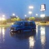 A stalled van at NW 62 an N May. Photo by Robert Medley, The Oklahoman