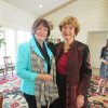 Freda Deskin and Kay Goebel were at the party. (Photo by Helen Ford Wallace).