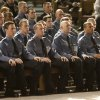 Members of the Oklahoma City Fire Department\'s recruit class of 2011-12 attend their graduation at Crossroads Church in Oklahoma City, Friday, February 10, 2012. The class had 29 recruits graduating from the training class. Photo By Steve Gooch, The Oklahoman