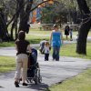 People enjoy the sunny weather in Hafer Park in Edmond, Tuesday, April 14, 2009. Photo By David McDaniel, The Oklahoman.