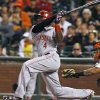 Photo - Cincinnati Reds' Brandon Phillips watches his two-run home run against the San Francisco Giants during the ninth inning of a baseball game, Saturday, June 28, 2014, in San Francisco. (AP Photo/George Nikitin)