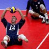 UCO: Brent Rasmussen sets the ball during a match against China at the Sitting Volleyball World Championships at Hamilton Field House on the University of Central Oklahoma campus in Edmond, Okla. Sunday, July 11, 2010. Photo by Miranda Grubbs, The Oklahoman ORG XMIT: KOD