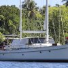 Photo - In this undated but recent photo provided by the Australian Federal Police, the yacht Raj is at anchor at Port Vila, Vanuatu. Packages of cocaine totaling 750 kilograms (1,650 pounds) of cocaine worth 370 million Australian dollars ($330 million) were found on the yacht and seized on Monday, Aug. 19, 2013  after the U.S. Drug Enforcement Administration and Australian Federal Police collaborated with South Pacific governments, officials said Friday, Aug. 23, 2013. (AP Photo/Australian Federal Police) EDITORIAL USE ONLY