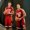 Photo - BLAKE GRIFFIN / TAYLOR GRIFFIN: Blake (23) and Taylor (32) Griffin at University of Oklahoma (OU) men's college basketball media day in Norman, Okla. on October 28, 2008.  By Steve Sisney, The Oklahoman  ORG XMIT: KOD