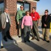 Standing next to the newly dedicated security building at the entrance to the J. D. McCarty Center for children with developmental disabilities are (l-r) Rob McCalla, cerebral palsy commissioner, Curt Peters, McCarty Center director and CEO, Don Biswell, president of Biswell Homes, Dr. Eileen Fox Biswell, Norman pediatrician, Bill Logan, cerebral palsy commissioner and John Knight, chairman of the cerebral palsy commission. The McCarty Center honored the Biswell family with a plaque on the security building for their efforts in securing donations of cash, materials and labor to build the security building. Community Photo By: Greg Gaston Submitted By: Greg,