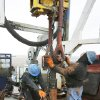 Workers drill a Devon gas well near Geary, March 10, 2009. Photo By David McDaniel, The Oklahoman.
