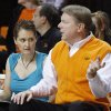 OSU Women\'s basketball coach Kurt Budke and his assistant coach Miranda Serna during an exhibition women\'s NCAA college basketball game between the Oklahoma State University Cowgirls and the Fort Hays State Tigers at Gallagher-Iba Arena in Stillwater, Okla., Wednesday, Nov. 9, 2011. Photo by Bryan Terry, The Oklahoman