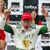 Photo - Mike Conway, of England, celebrates his win in the IndyCar Grand Prix of Long Beach auto race, Sunday, April 13, 2014, in Long Beach, Calif. (AP Photo/Alex Gallardo)
