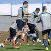 Photo - Portugal's Cristiano Ronaldo, Nani and Raul Meireles, from left to right, practice during a training session in Campinas, Brazil, Friday, June 13, 2014. Portugal plays in group G of the Brazil 2014 soccer World Cup. (AP Photo/Paulo Duarte)