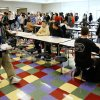 The second shift of students filing in for lunch in the cafeteria during the first day of classes in the new school building at U.S. Grant High School in Oklahoma City Monday, Jan. 8, 2007. BY PAUL B. SOUTHERLAND, The Oklahoman