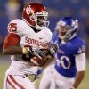 Oklahoma\'s Ryan Broyles (85) catches a pass for a touchdown and sets the NCAA receptions record during the college football game between the University of Oklahoma Sooners (OU) and the University of Kansas Jayhawks (KU) at Memorial Stadium in Lawrence, Kansas, Saturday, Oct. 15, 2011. Photo by Bryan Terry, The Oklahoman
