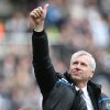 Newcastle United\'s manager Alan Pardew is seen at the end of their English Premier League soccer match against Manchester City at Newcastle United at the Sports Direct Arena, Newcastle, England, Sunday, May 6, 2012. (AP Photo/Scott Heppell)