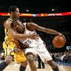 Oklahoma City\'s Kevin Durant (35) tries to get past Indiana\'s Danny Grander (33) during the basketball game between the Oklahoma City Thunder and the Indiana Pacers, Saturday, Jan. 9, 2010 at the Ford Center in Oklahoma CIty. Photo by Sarah Phipps, The Oklahoman