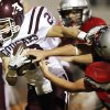 Ada\'s Dillon Holder (28) breaks away from a U.S. Grant defender during a high school football game between Ada and U.S. Grant at C.B. Speegle Stadium in Oklahoma City, Friday, Sept. 16, 2011. Photo by Nate Billings, The Oklahoman