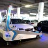 Photo -  Parking robot Ray transports a car Monday in Duesseldorf, Germany. The parking robot will see service for the first time at Duesseldorf airport. AP Photos   Federico Gambarini -  AP