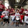 Fans line up for the University of Oklahoma Sooner (OU) football team fan appreciation day at Gaylord Family-Oklahoma Memorial Stadium in Norman, Okla., on Saturday, Aug. 3, 2013. Photo by Steve Sisney, The Oklahoman
