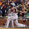 Photo - Washington Nationals' Jason Werth hits a home run against the San Francisco Giants during the fifth inning of a baseball game, Wednesday, June 11, 2014, in San Francisco. (AP Photo/George Nikitin)