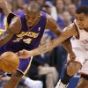 Oklahoma City\'s Thabo Sefolosha (2) defends Los Angeles\' Kobe Bryant (24) during Game 2 in the second round of the NBA playoffs between the Oklahoma City Thunder and L.A. Lakers at Chesapeake Energy Arena in Oklahoma City, Wednesday, May 16, 2012. Photo by Bryan Terry, The Oklahoman